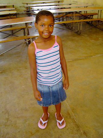 Patenkind Themba, 8 Jahre
