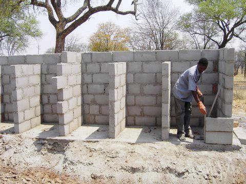 Bau des Waschhauses